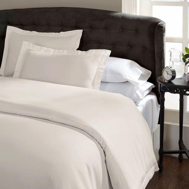 Ddecor Home 1000 Thread Count Quilt Cover Set Cotton Blend Classic Hotel Style - King - Pebble