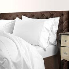 Royal Comfort 1000 Thread Count Cotton Blend Quilt Cover Set Premium Hotel Grade - Queen - White