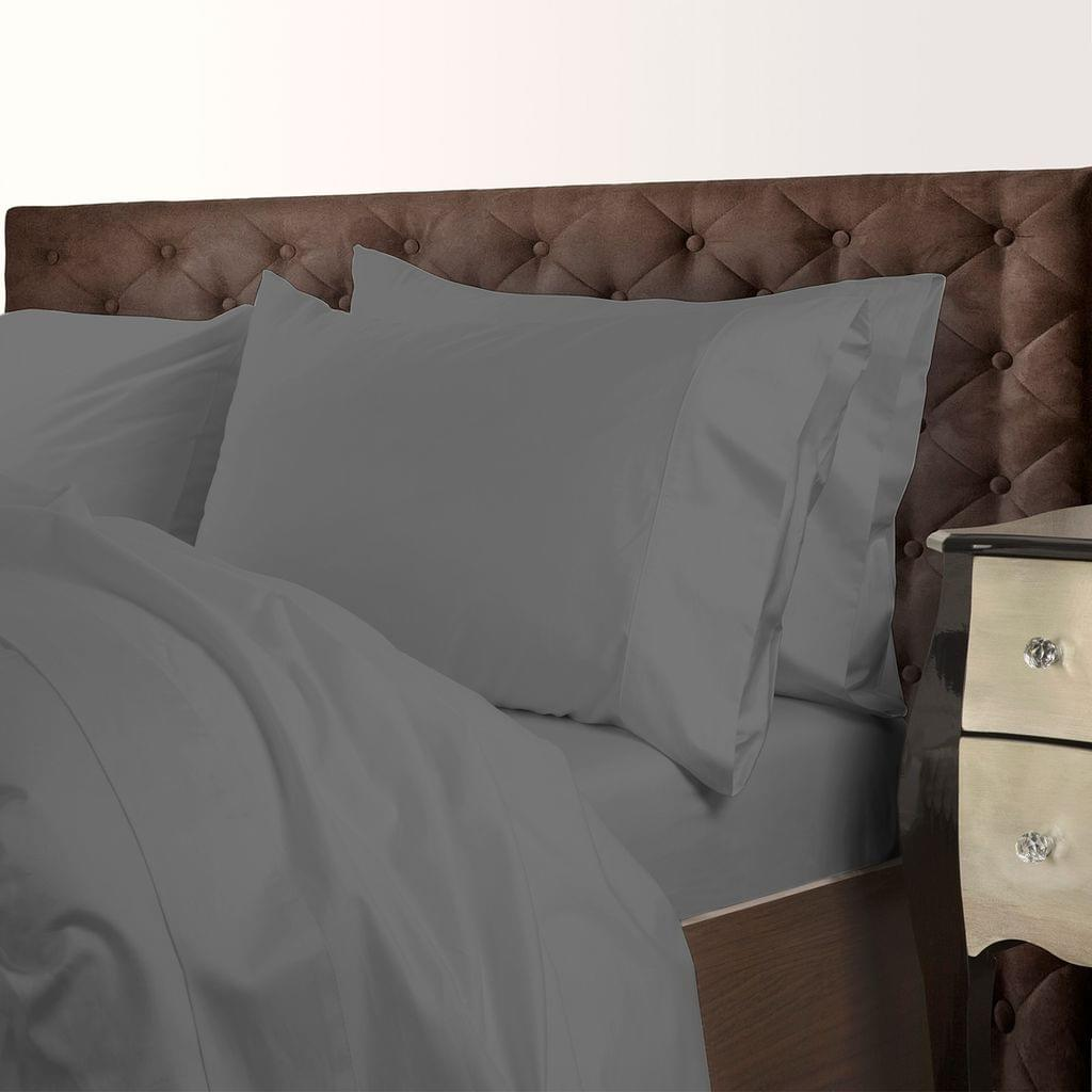 Royal Comfort 1000 Thread Count Cotton Blend Quilt Cover Set Premium Hotel Grade - Queen - Charcoal