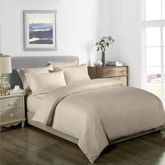 Royal Comfort Cooling Bamboo Blend Quilt Cover Set Striped 1000 Thread Count - Queen - White