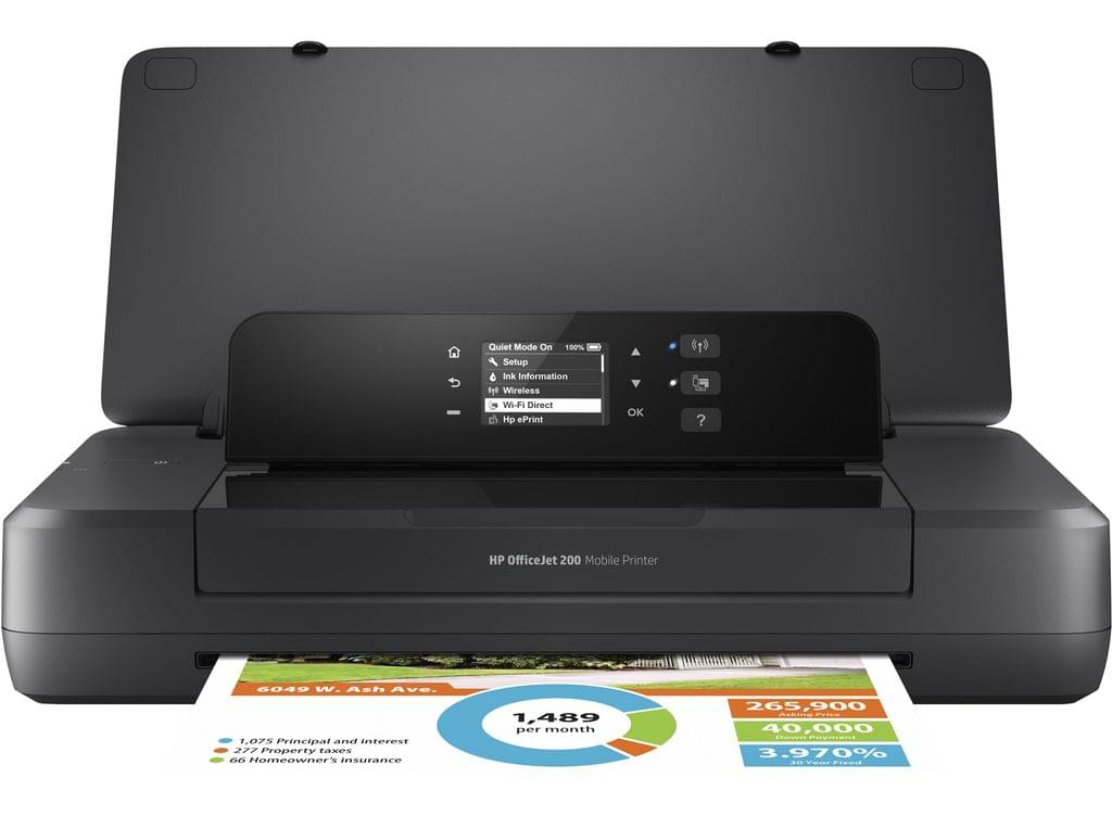 HP OFFICEJET 200 MOBILE PRINTER A4 10 7PPM DC 500 RMPV 300 USB WIFI EPRINT 50 SHEET INPUT