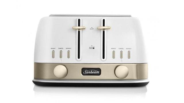 Sunbeam New York Collection 4 Slice Toaster - White/Pale Gold