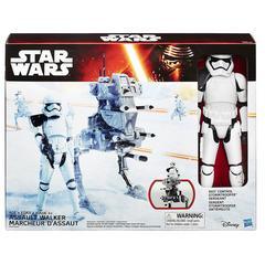 Star Wars Hero Series Figure and Vehicle, Assault Walker and Storm Trooper, Multi Color