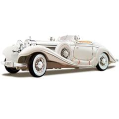 Maisto 1936 Mercedes Benz 500 K Typ Special Roadster, White, 1:18 Scale, Die Cast Metal, Collectable Model