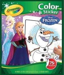 Crayola Color & Sticker Book, Disney Frozen, 75+ Stickers