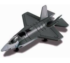 Maisto Tailwinds, U.S. Military F 35 Lightning Ii Jet, Die Cast Replica, Grey