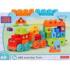 Mega Bloks Abc Learning Train, 60 Pieces Multi Color