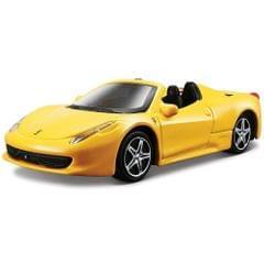 Burago Ferrari 458 Spider Yellow Color, 1:43 Scale Die Cast Metal Collectable Model Car