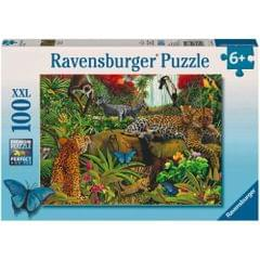 Ravensburger Puzzle Wild Jungle 100 pieces Multi Color