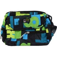 Viraz Teflon Coated Waterproof Sling Bag, Green & Blue