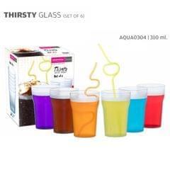 Varmora Thirsty Glass 310 ML Set of 6 Water Glass