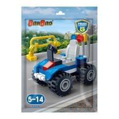 Banbao Building Blocks Foilpack Gilt Police Car, Multi Color