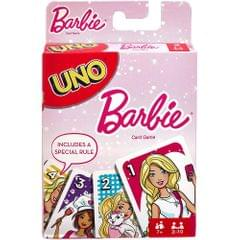 Mattel Uno Barbie Card Game, Multi Color