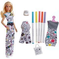 Barbie Crayola Color In Fashion Doll, Multi Color