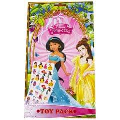 Topps Disney Princess Toy Pack Collections, Pack of 4 Stickers Sheets