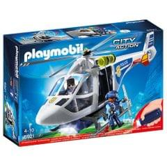 Playmobil Police Helicopter With LED Searchlight, Multi Color