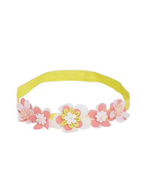 Yellow 3d flower headband