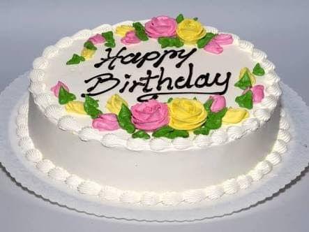 Vanila Birthady Cake