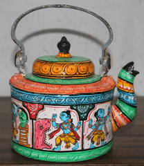 Kettle with Krishna Katha (Story)- Pattachitra Fusion