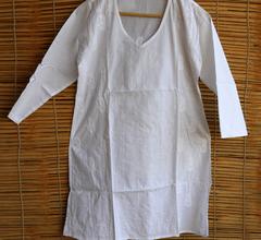 Chikankaari - Short Kurta -White