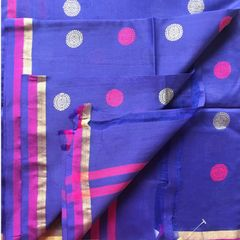 Dark Blue Cotton Silk Dupatta