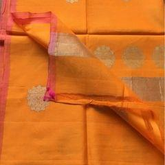 Yellow Cotton Silk Dupatta