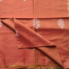 Brown Cotton Silk Dupatta