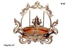 Ganesha-Swinging Ganesha With Mayura Urli