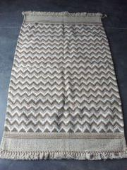 "Brown Kharad ""Durrie"" with single pattern"