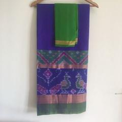 Uppada Blue Silk with Pochampally Border
