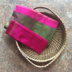"""""""Uppada Silk - Green And Pink"""" Saree"""
