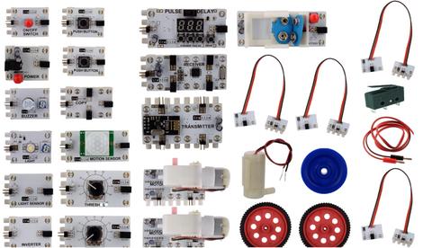 Logic Kit - 27 Cretile including 1 Programmable Cretile, 10 Accessories