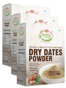 Dry Dates Powder - Natural Sweetener for Little Ones - 200 gms (Pack of 3)
