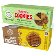 Organic Dry Fruit & Ragi Choco Jaggery Cookies (Assorted Pack of 2)