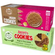 Multigrain Millet & Ragi Choco Jaggery Cookies (Assorted Pack of 2)