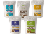 Organic Instant Porridge Mixes & Dry dates Powder - 50 gms (5 Travel Pack Combo)
