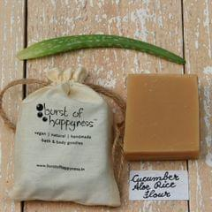 Cucumber & Aloe Handmade Natural Soap with Rice Flour