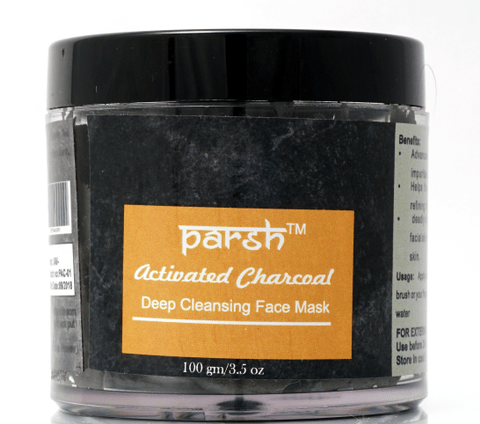 Activated Charcoal with Clay Face Mask for All Skins - 100 gms