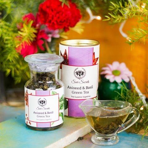 Aniseed and Basil Green Tea - 50 gm