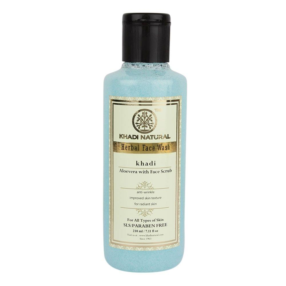 Aloevera With Scrub Face Wash  - 210 ml