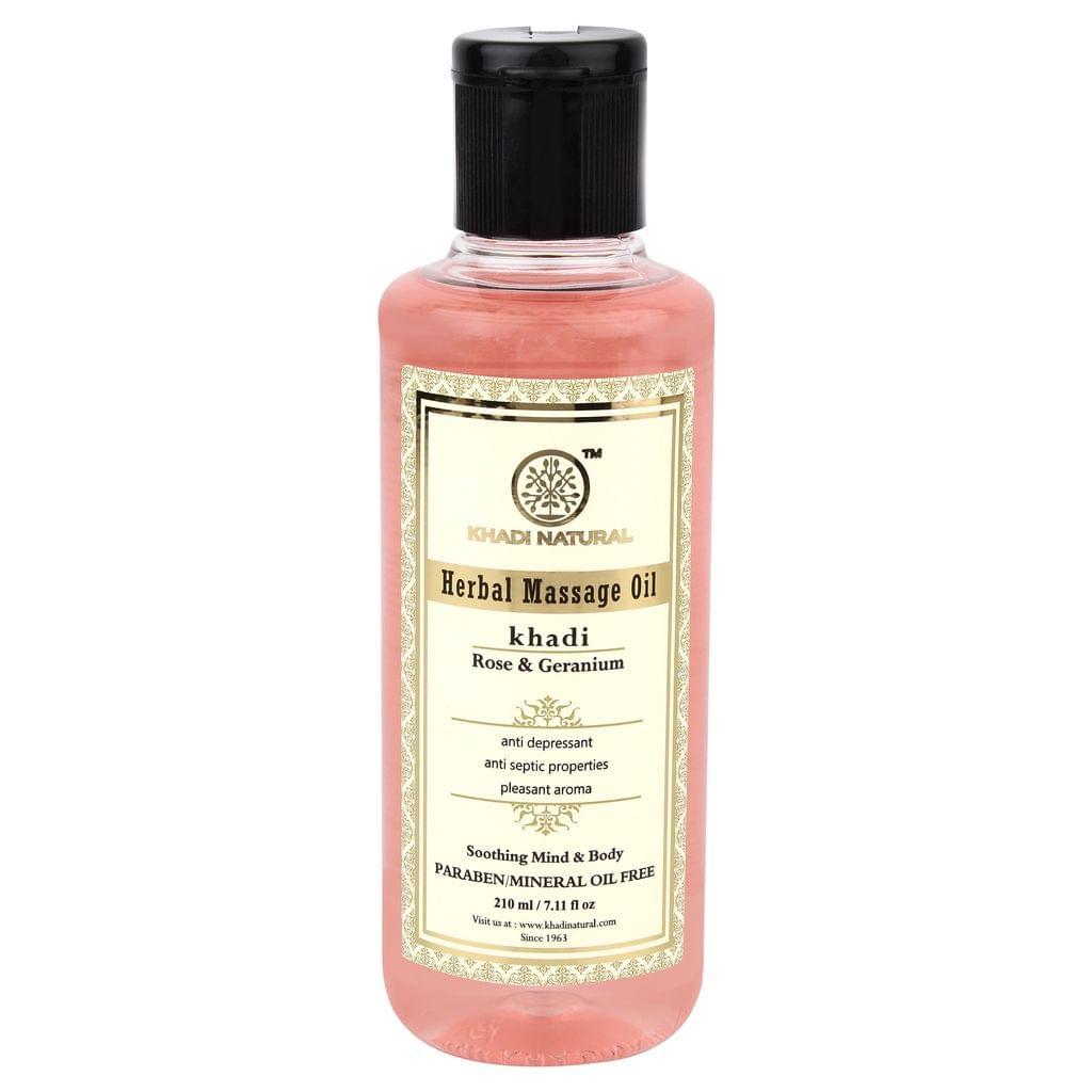Rose Geranium Massage Oil - 210 ml