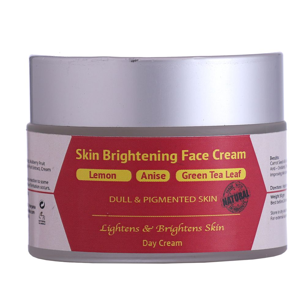Lemon, Anise & Green Tea Leaf Skin Brightening Face Cream - 50 gm