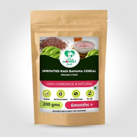 Sprouted Ragi Banana Cereal - 200 gm