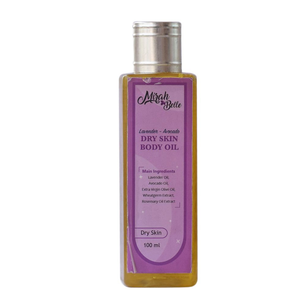 Lavender & Avocado Body Oil for Dry Skin - 100 ml
