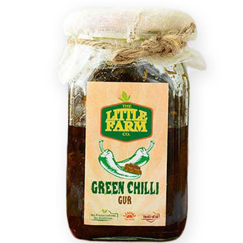 Green Chilli Gur Pickle - 400 gms