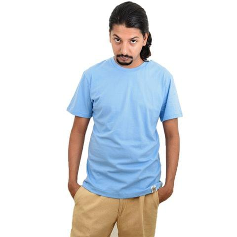 Blue Plain Eco-Friendly Men's T-shirt