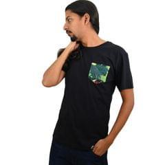 Black Coffee Printed Pocket Eco-Friendly Men's T-shirt