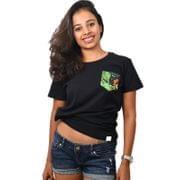 Black Coffee Printed Pocket Women's T-shirt