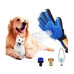 Pet Shower Sprayer and Grooming Glove