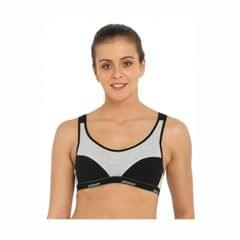 Black Racer Back Padded Active Bra 1378-01